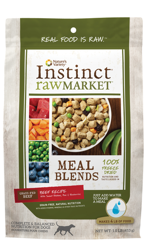 Instinct Raw Market Meal Blends Beef Recipe With Sweet Potatoes, Peas & Blueberries
