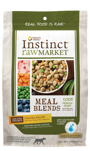 Instinct Raw Market Meal Blends Chicken Recipe With Sweet Potatoes, Peas & Blueberries