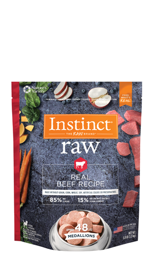 Instinct Raw Medallions Natural Beef Recipe