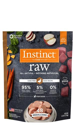 Instinct Raw Medallions Duck Recipe