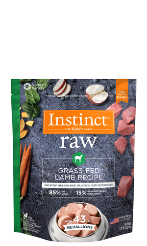Instinct Raw Medallions Grass-Fed Lamb Recipe