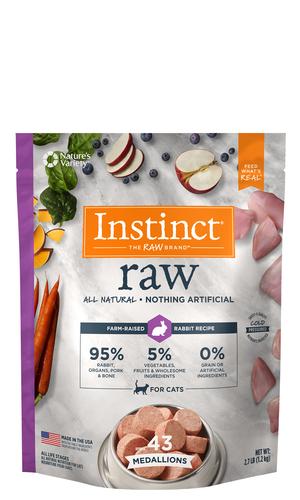Instinct Raw Medallions Rabbit Recipe