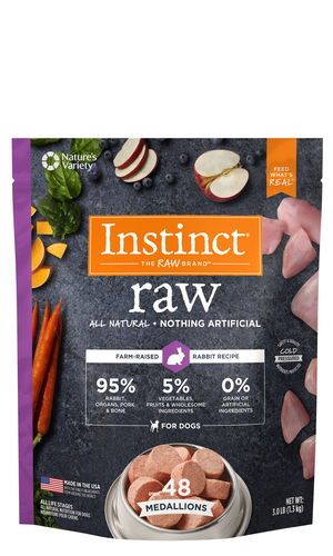 Instinct Raw Medallions Rabbit Recipe