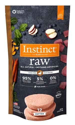 Instinct Raw Patties Duck Recipe