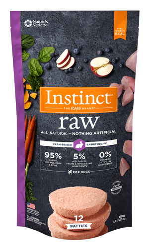 Instinct Raw Patties Rabbit Recipe