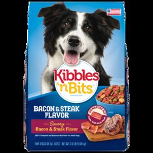 Kibbles 'n Bits Crunchy Kibble 'N Meaty Bits Bacon & Steak Flavor
