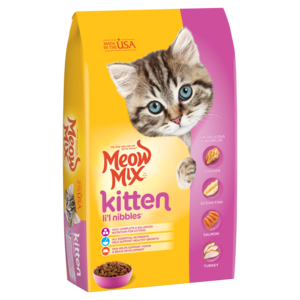 Meow Mix Dry Cat Food Kitten Lil Nibbles Review Rating Pawdiet