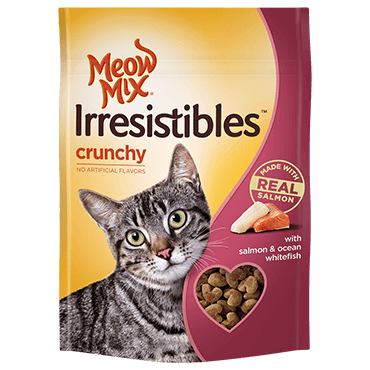 Meow Mix Irresistibles Crunchy With Salmon & Ocean Whitefish