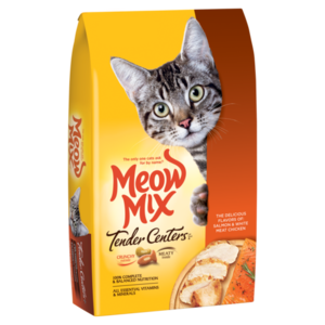 Meow Mix Tender Centers Salmon & White Meat Chicken Flavors