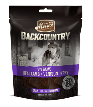 Merrick Backcountry Big Game Real Lamb + Venison Jerky