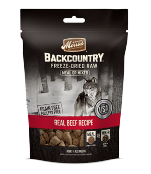Merrick Backcountry Freeze-Dried Raw Real Beef Recipe Meal Or Mixer