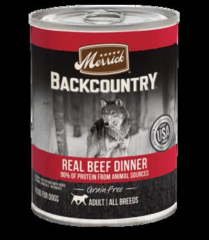 Merrick Backcountry Grain Free 96% Real Beef