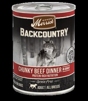 Merrick Backcountry Grain Free Chunky Beef Dinner In Gravy