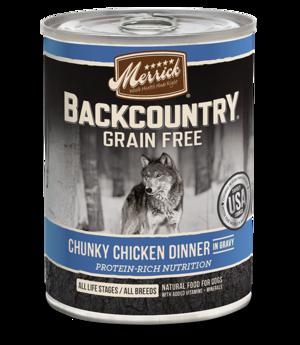 Merrick Backcountry Grain Free Chunky Chicken Dinner In Gravy