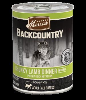 Merrick Backcountry Grain Free Chunky Lamb Dinner In Gravy