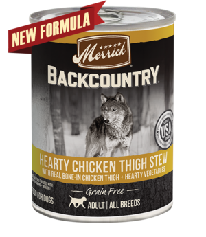 Merrick Backcountry Grain Free Hearty Chicken Thigh Stew