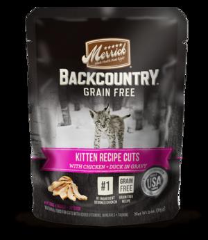 Merrick Backcountry Grain Free Kitten Recipe Cuts With Chicken + Duck In Gravy