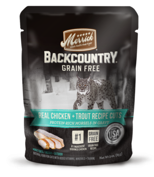 Merrick Backcountry Grain Free Real Chicken + Trout Recipe Cuts