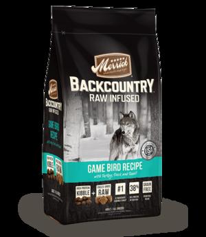 Merrick Backcountry Raw Infused Game Bird Recipe
