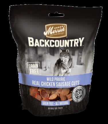 Merrick Backcountry Wild Prairie Real Chicken Sausage Cuts