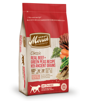 Merrick Classic Real Beef + Green Peas Recipe With Ancient Grains