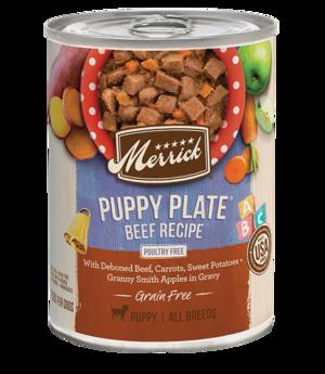 Merrick Classic Recipe Grain Free Puppy Plate Beef Recipe