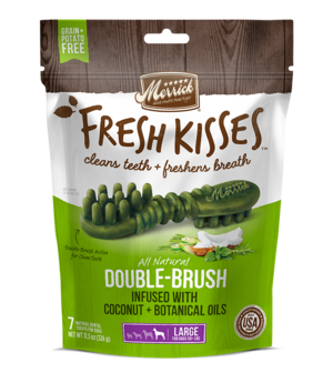 Merrick Fresh Kisses Double-Brush Coconut + Botanical Oils For Large Dogs