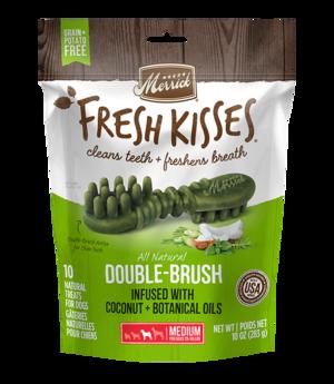 Merrick Fresh Kisses Double-Brush Coconut + Botanical Oils For Medium Dogs