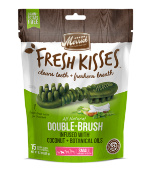 Merrick Fresh Kisses Double-Brush Coconut + Botanical Oils For Small Dogs