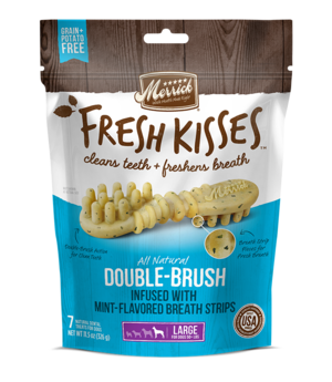 Merrick Fresh Kisses Double-Brush Mint-Flavored Breath Strips For Large Dogs