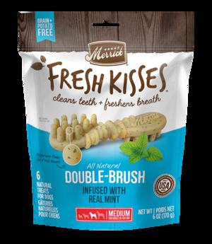 Merrick Fresh Kisses Double-Brush Mint-Flavored Breath Strips For Medium Dogs