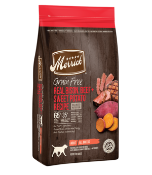 Merrick Grain Free Real Buffalo + Sweet Potato Recipe