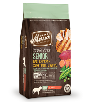 Merrick Grain Free Real Chicken + Sweet Potato Recipe For Senior Dogs