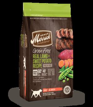Merrick Grain Free Real Lamb + Sweet Potato Recipe