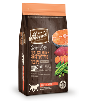 Merrick Grain Free Real Salmon + Sweet Potato Recipe