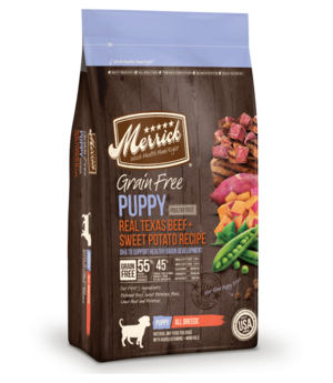 Merrick Grain Free Real Texas Beef + Sweet Potato Recipe For Puppies