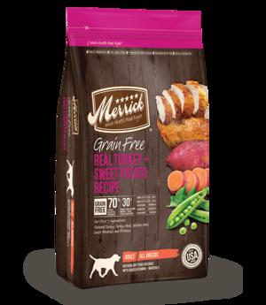 Merrick Grain Free Real Turkey + Sweet Potato Recipe