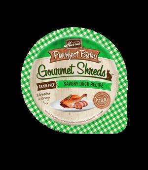Merrick Purrfect Bistro Gourmet Shreds Savory Duck Recipe