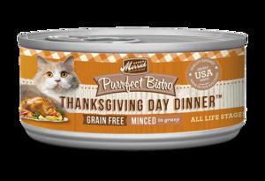 Merrick Purrfect Bistro Thanksgiving Day Dinner Minced In Gravy
