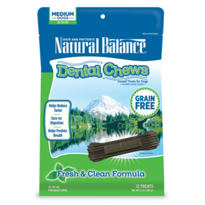 Natural Balance Dental Chews Fresh & Clean Formula - Medium