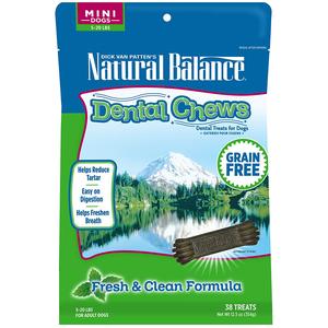 Natural Balance Dental Chews Fresh & Clean Formula - Mini
