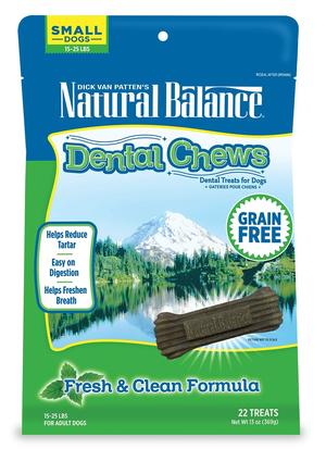 Natural Balance Dental Chews Fresh & Clean Formula - Small