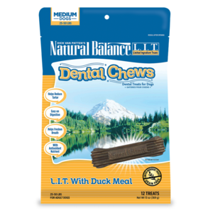 Natural Balance Dental Chews L.I.T. With Duck Meal - Medium To Large