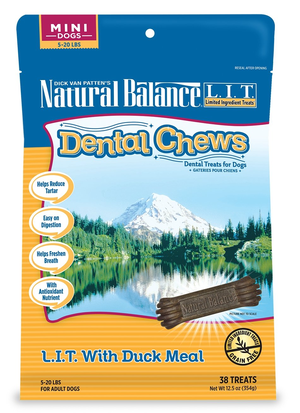 Natural Balance Dental Chews L.I.T. With Duck Meal - Mini