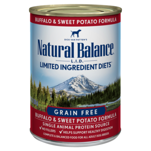 Natural Balance Limited Ingredient Diets Buffalo & Sweet Potato Formula