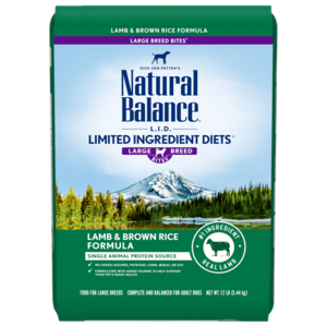 Natural Balance Limited Ingredient Diets Lamb Meal & Brown Rice Formula - Large Breed Bites