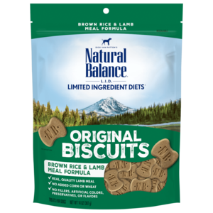 Natural Balance Limited Ingredient Treats Brown Rice & Lamb Meal Formula Treats - Regular Size