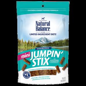 Natural Balance Limited Ingredient Treats Mini Jumpin' Stix - Chicken & Sweet Potato Formula