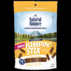Natural Balance Limited Ingredient Treats Mini Jumpin' Stix - Duck & Potato Formula