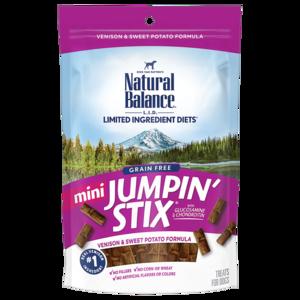 Natural Balance Limited Ingredient Treats Mini Jumpin' Stix - Venison & Sweet Potato Formula